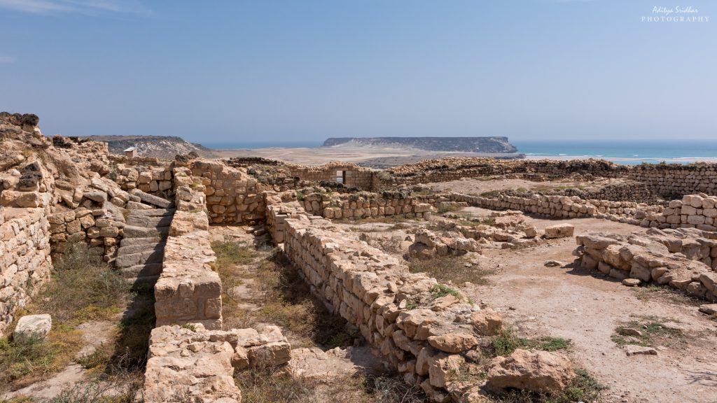 The ruins of the coastal city of Sumhuram